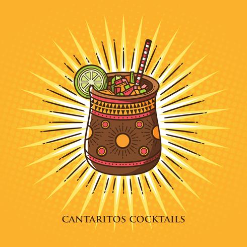 cantaritos cocktailillustration vektor