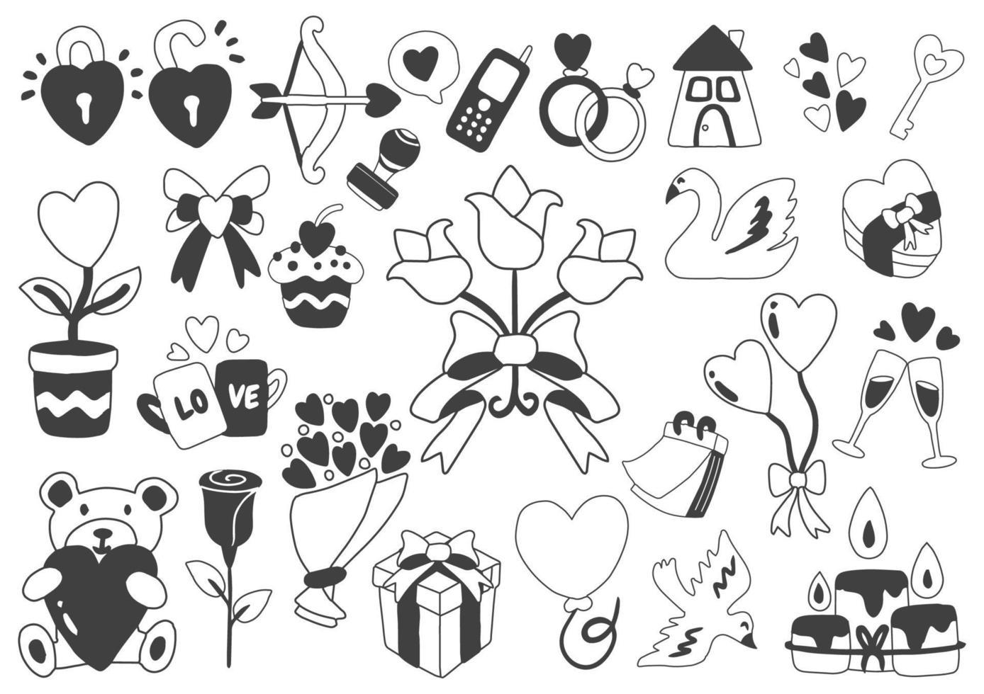 Valentinstag Illustration Vektor für Banner