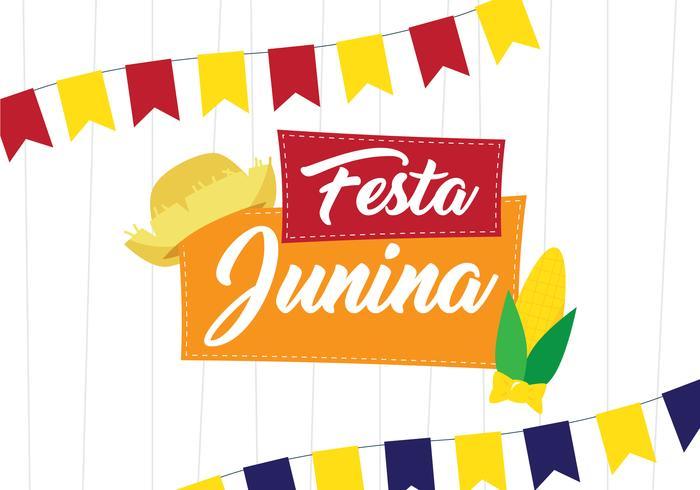 festa junina festivalaffisch vektor