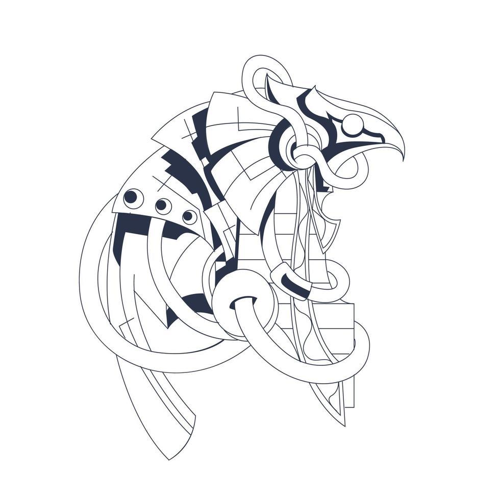horus egypten färgning illustration konstverk vektor