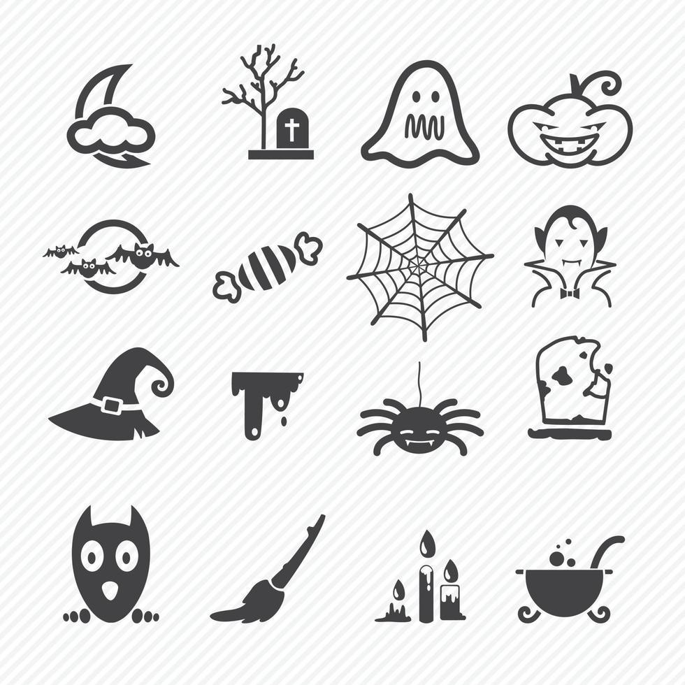 Halloween-Ikonen setzen Illustration vektor