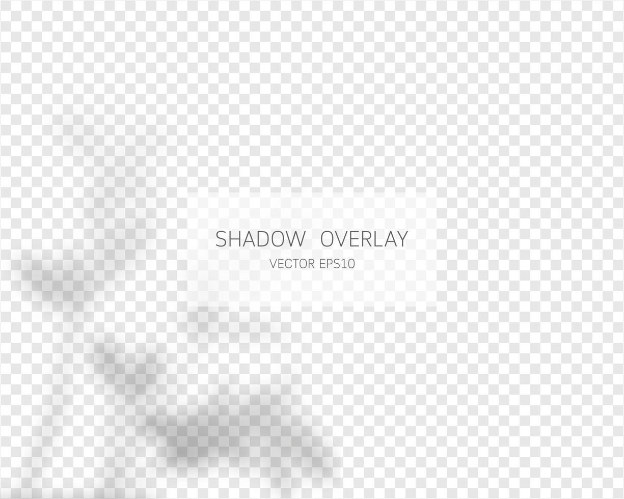 Schattenüberlagerungseffekt. natürliche Schatten isoliert vektor