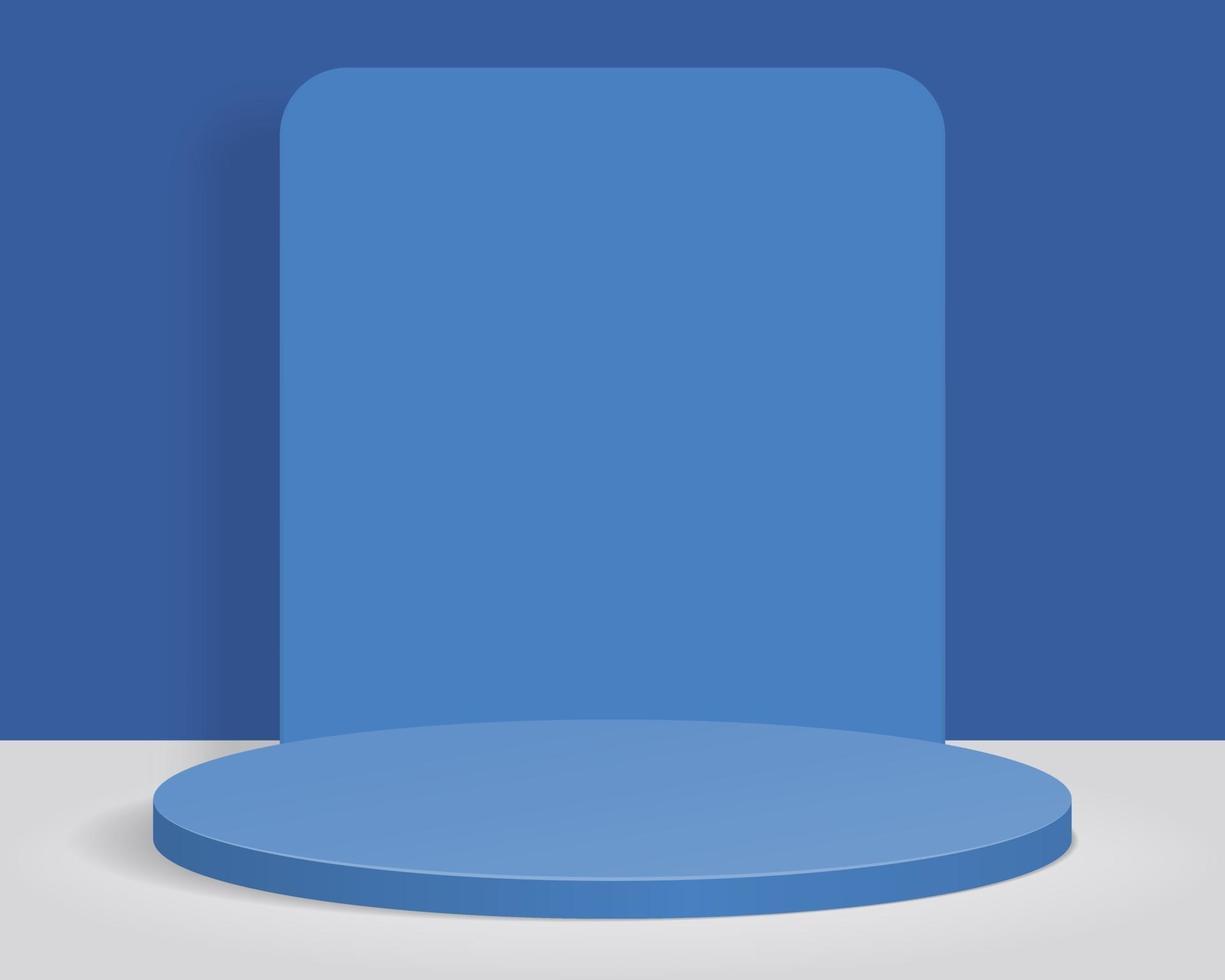 tom cylinder podium på minimal bakgrund. abstrakt minimal scen med geometriska former. design för produktpresentation. 3d vektorillustration. vektor
