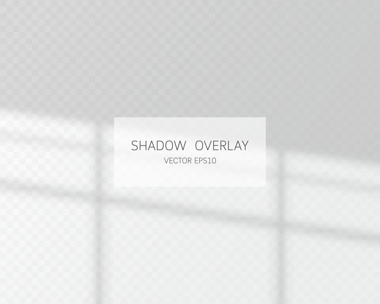 Schattenüberlagerungseffekt. natürliche Schatten vom Fenster isoliert vektor