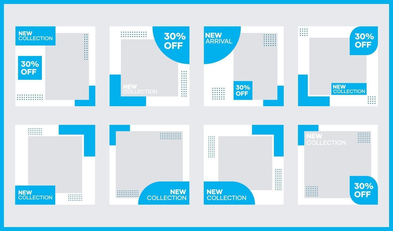 vektor sociala medier banner mall bunt. i ljusblått. lämplig för inlägg på sociala medier och webbplatsannonsering på internet