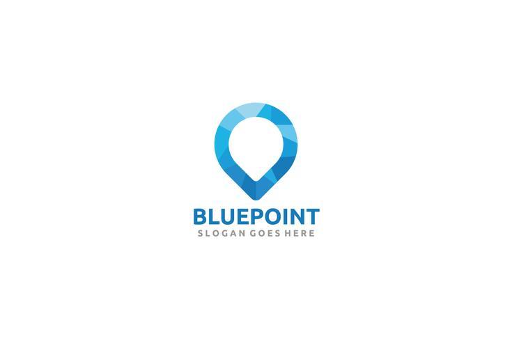 Blaues Punkt-Logo vektor