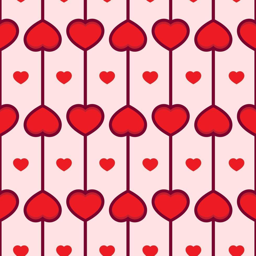 älskar hjärtat sömlösa mönster vektor