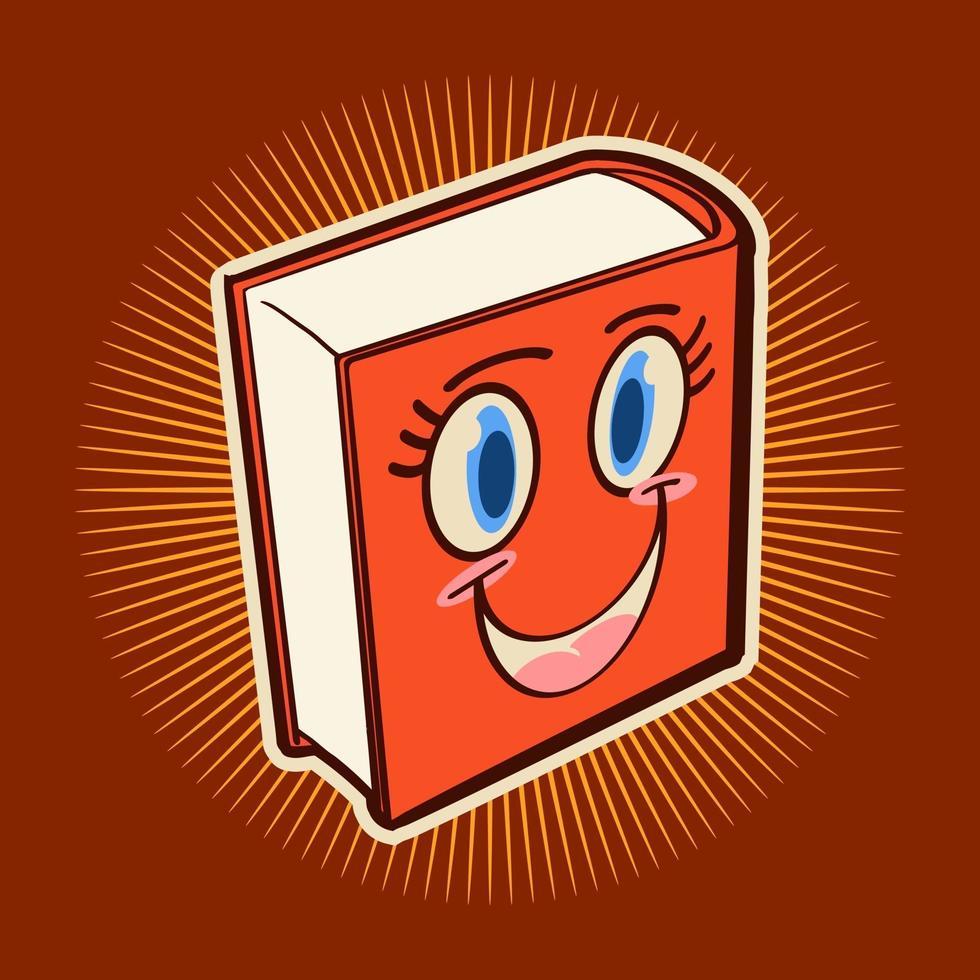 böcker leende tecknad vektorillustration design vektor