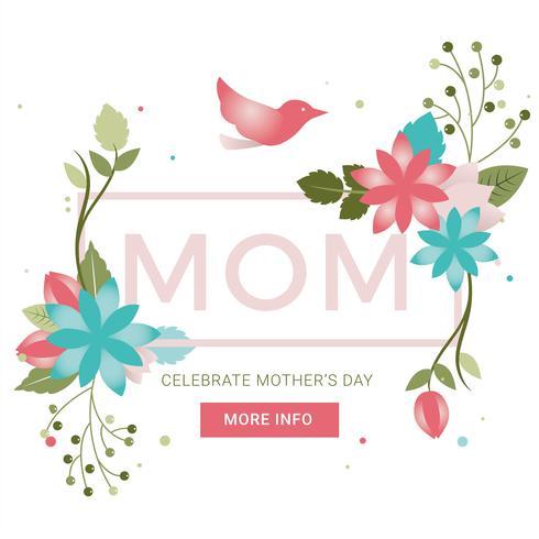 Vektor-Muttertag-Grußkarte vektor
