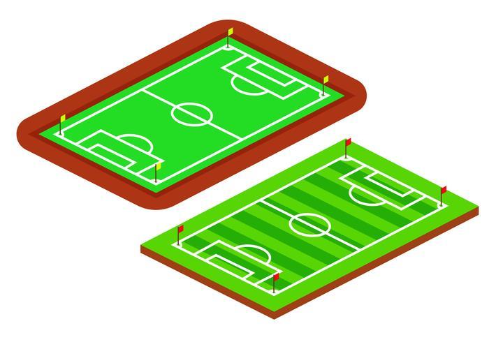 Isometrische Fußballfelder vektor