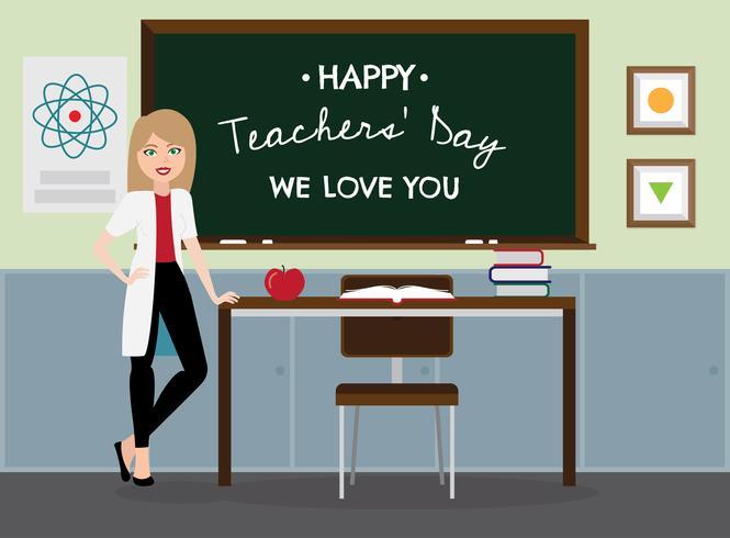 Lärarens dag Bakgrund vektor