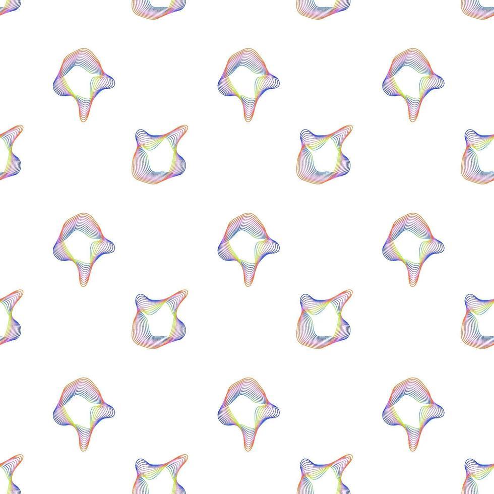 abstrakt våg sömlösa mönster vektor