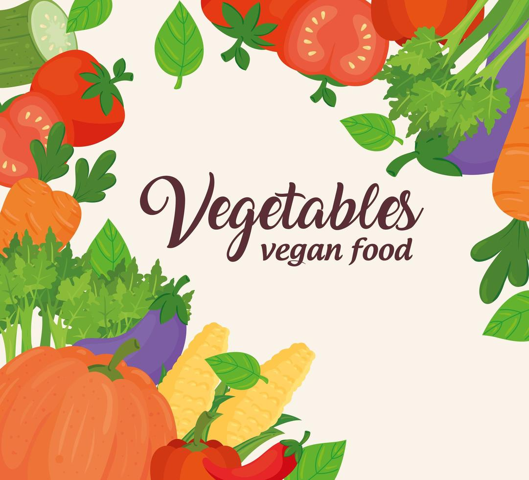 Gemüse Banner, Konzept für gesundes und veganes Essen vektor
