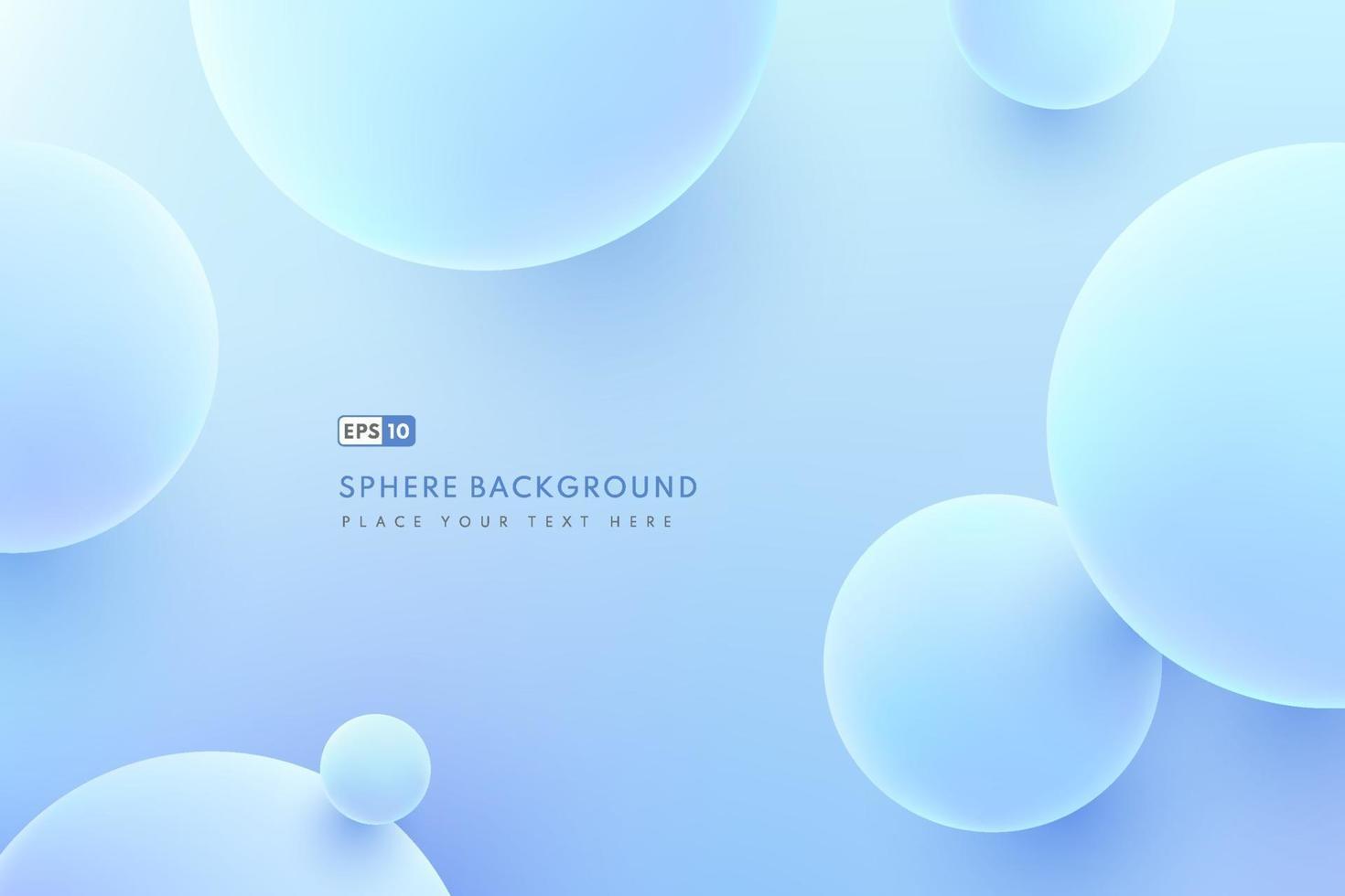 abstrakt flytande vätske cirklar hologram färg bakgrund. Sfär 3d ljusblå. kreativa minimala bubbla trendiga gradientmall för omslagsbroschyr, flygblad, affisch, bannerweb. vektor illustration
