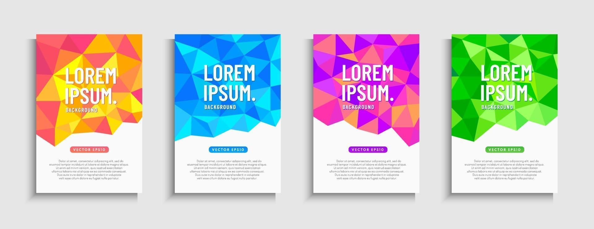 abstrakt dynamisk modern låg polygon mobil försäljning banner uppsättning. försäljning banner trendig gradient mall design, geometrisk super försäljning specialerbjudande samling. vektor illustration