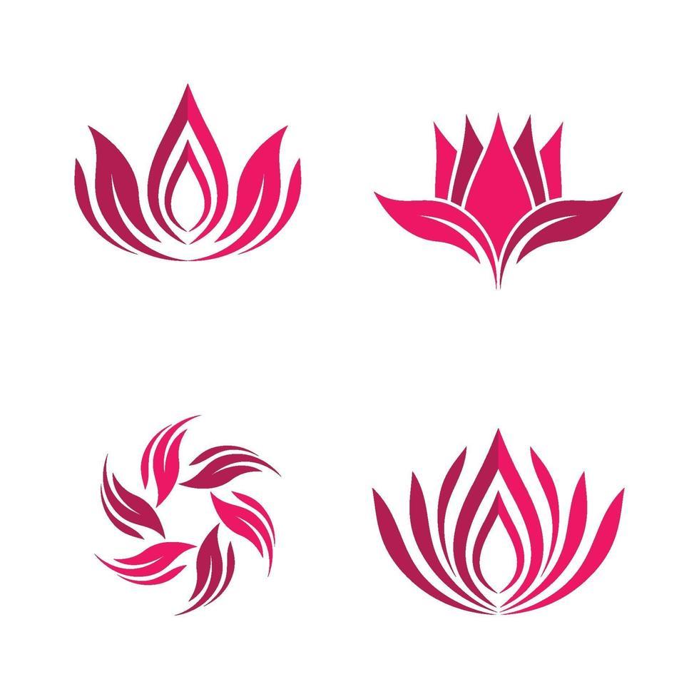 Beauty Lotus Logo Bilder vektor