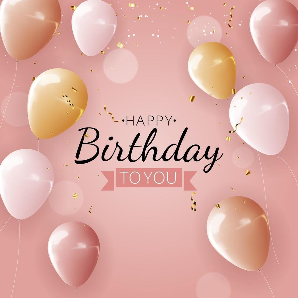 realistischer 3d Ballonhintergrund für Partei, Feiertag, Geburtstag, Werbekarte, Plakat. vektor