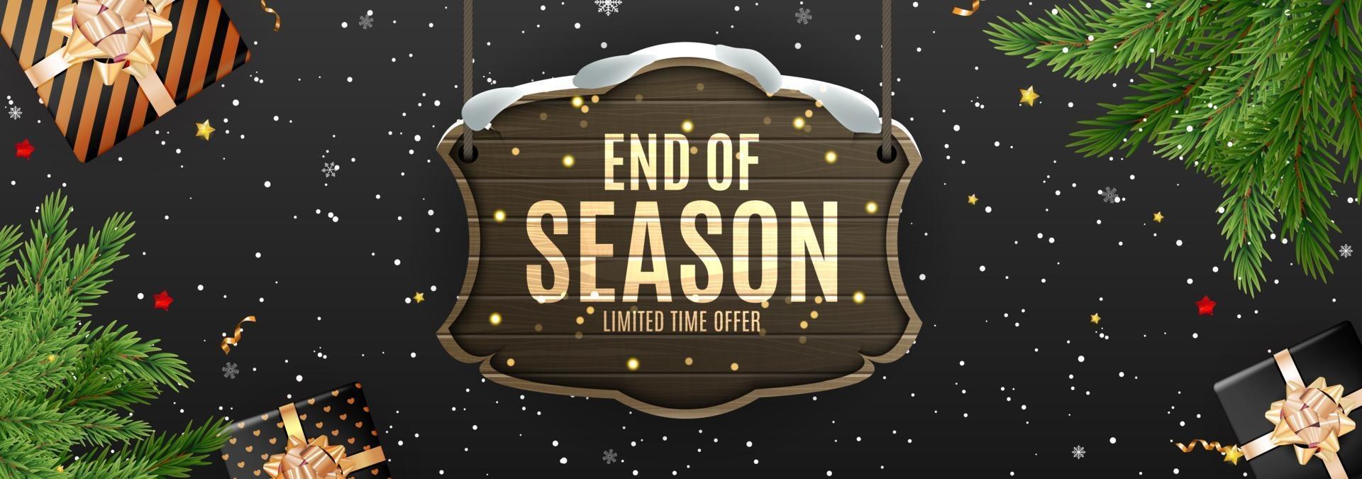 Winter Ende der Saison Verkauf Hintergrund Design. Vorlage für Werbung, Web, Social Media und Modewerbung. vektor