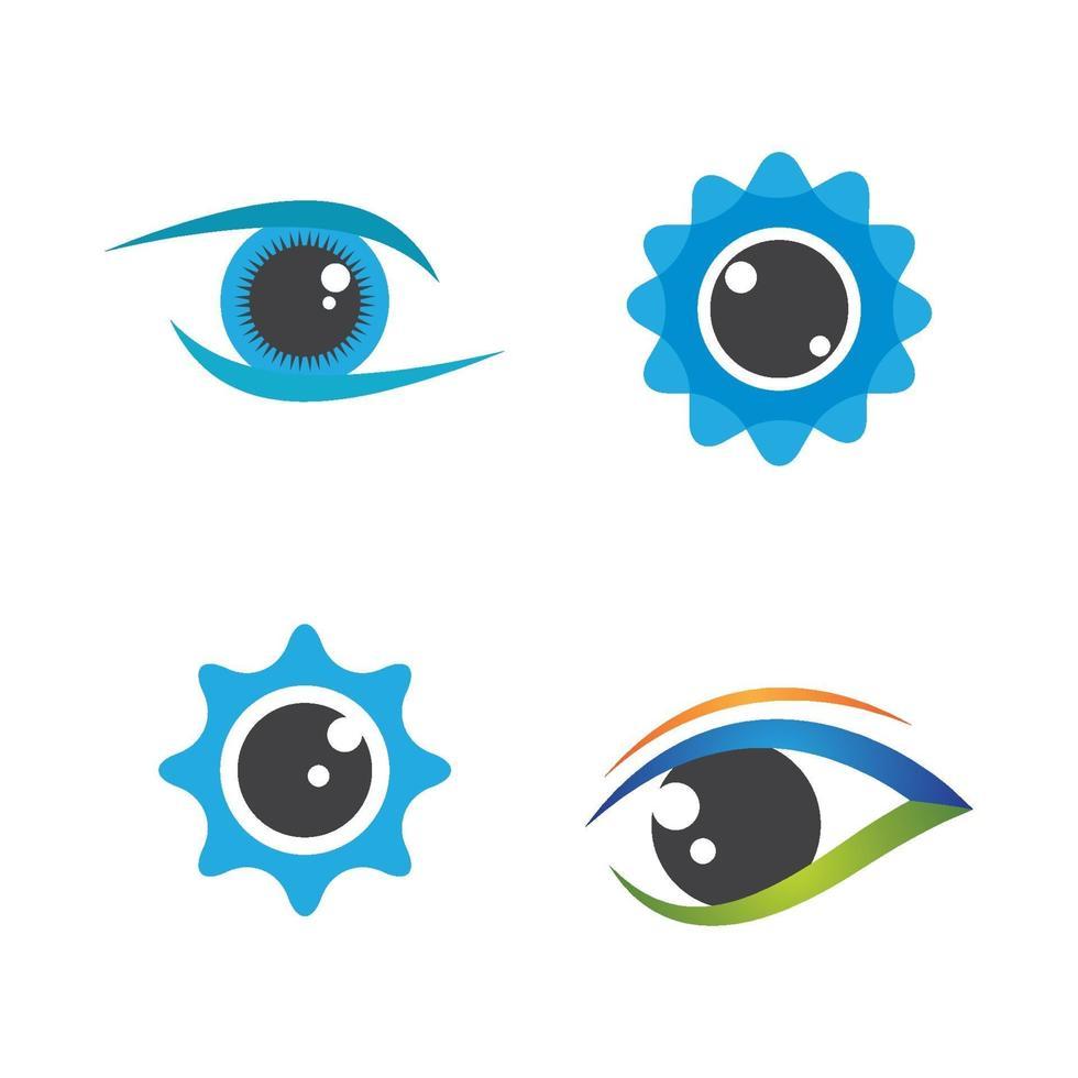 Augenpflege-Logo-Bilder vektor