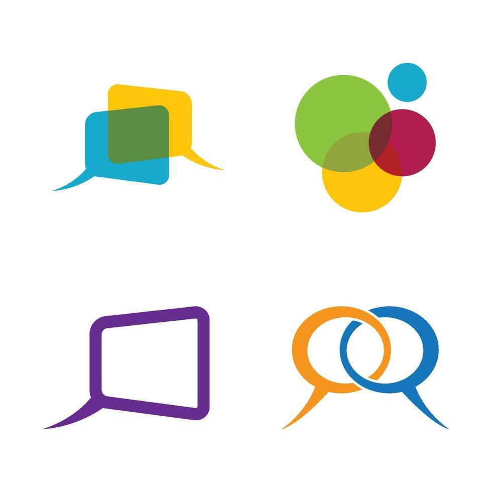 Sprechblasen-Logo-Bilder vektor