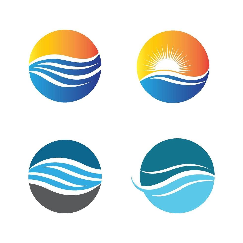 Sonnenuntergang Logo Bilder vektor