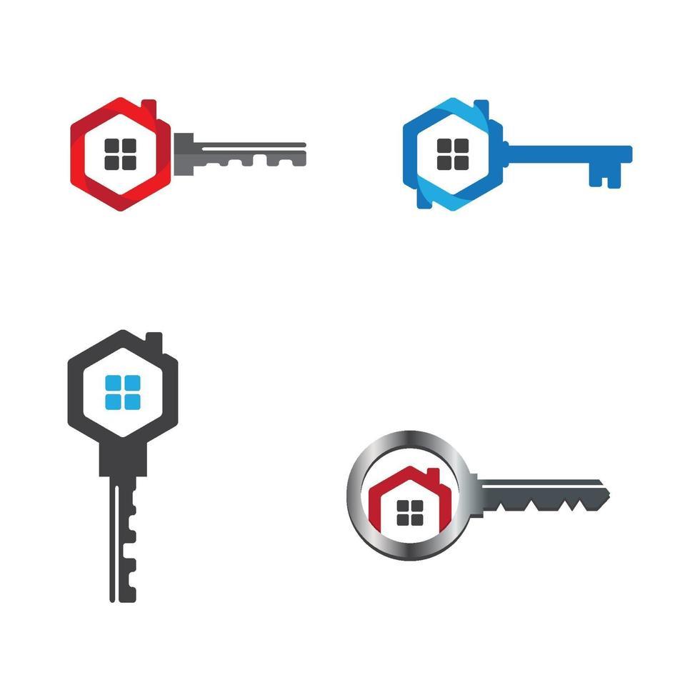 Hausschlüssel Logo Design vektor
