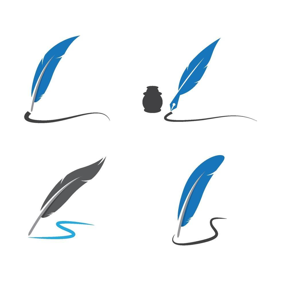 Feder Logo Bilder vektor