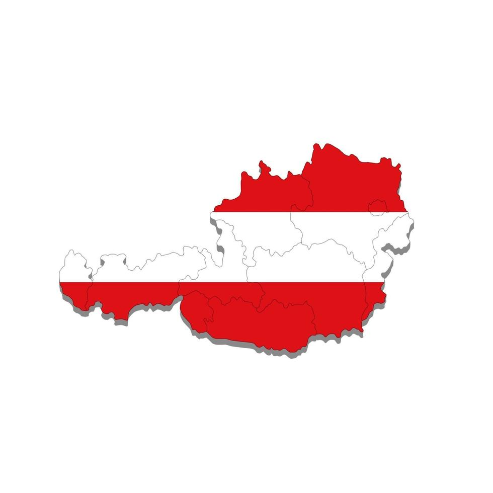 Karte von Österreich mit Stadtgrenzen. Vektorillustration vektor
