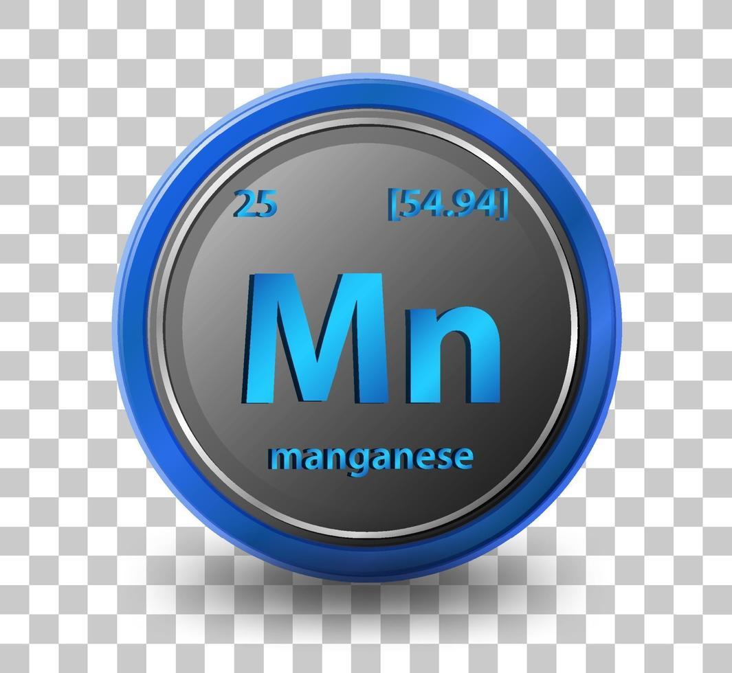 mangankemiskt grundämne vektor