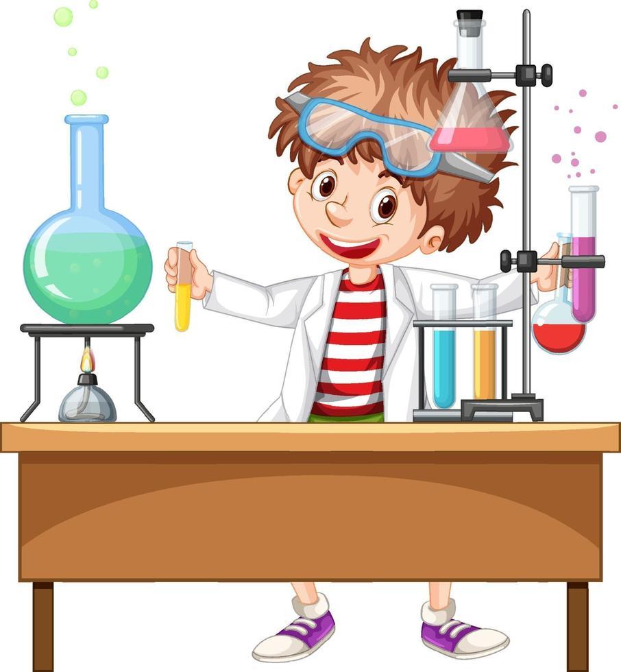 forskarexperiment i laboratoriet vektor