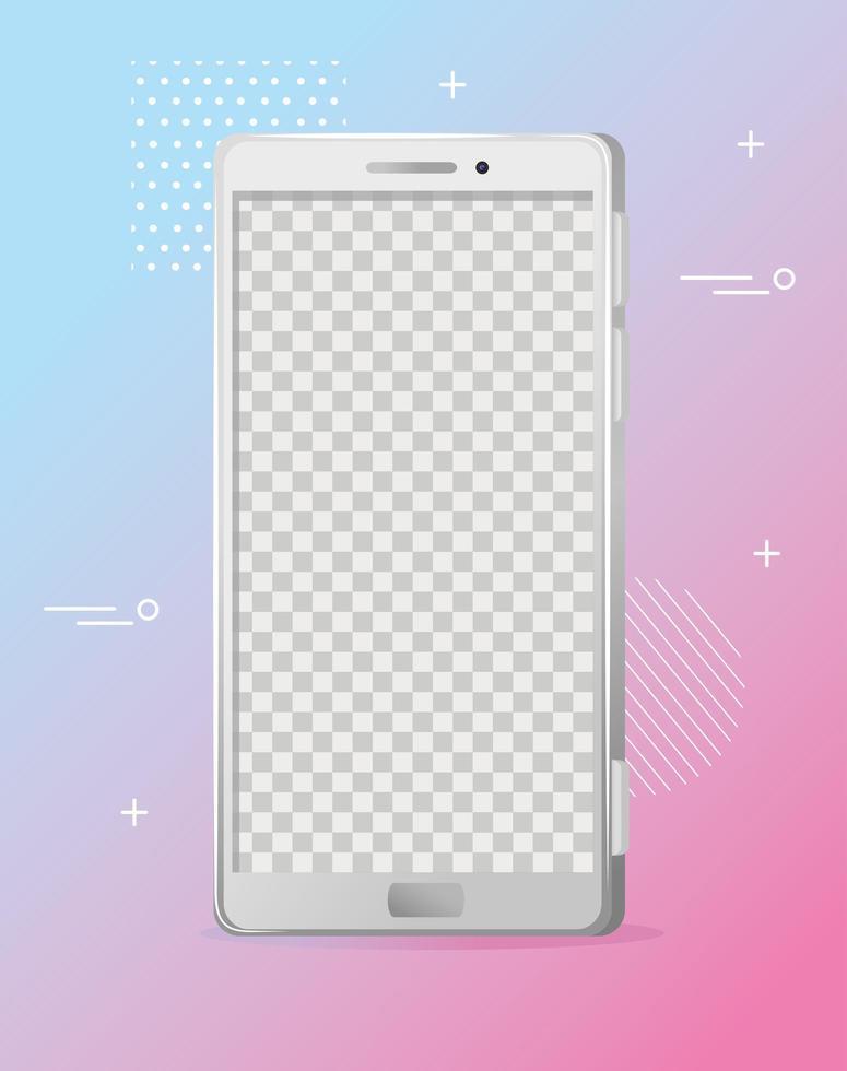 realistisk smartphone mockup, personlig enhetsteknik vektor