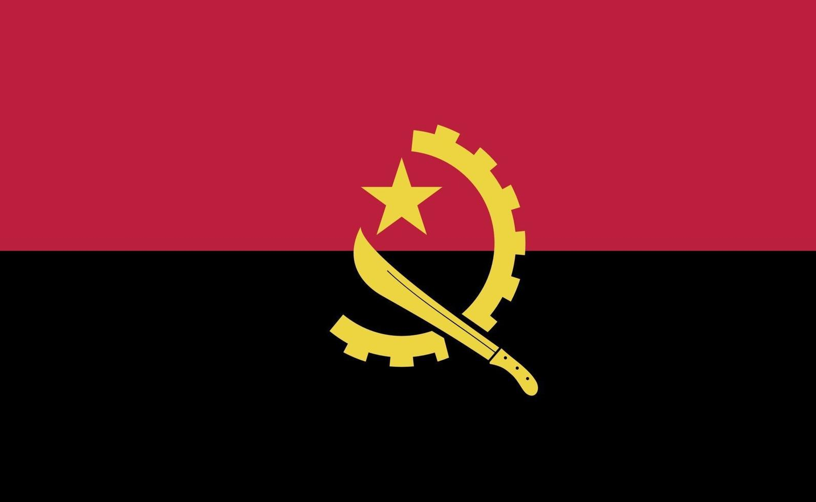 algeriets nationella flagga i exakta proportioner - vektorillustration vektor
