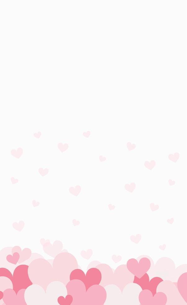 Satz festliche rote und rosa Herzen - Vektorillustration vektor