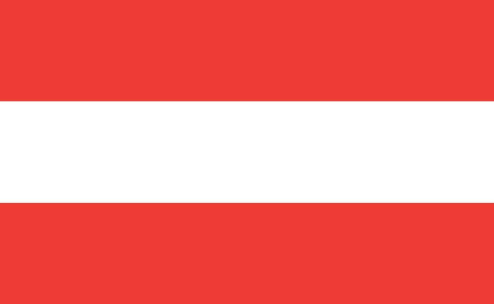 österreichische nationalflagge in exakten proportionen - vektorillustration vektor