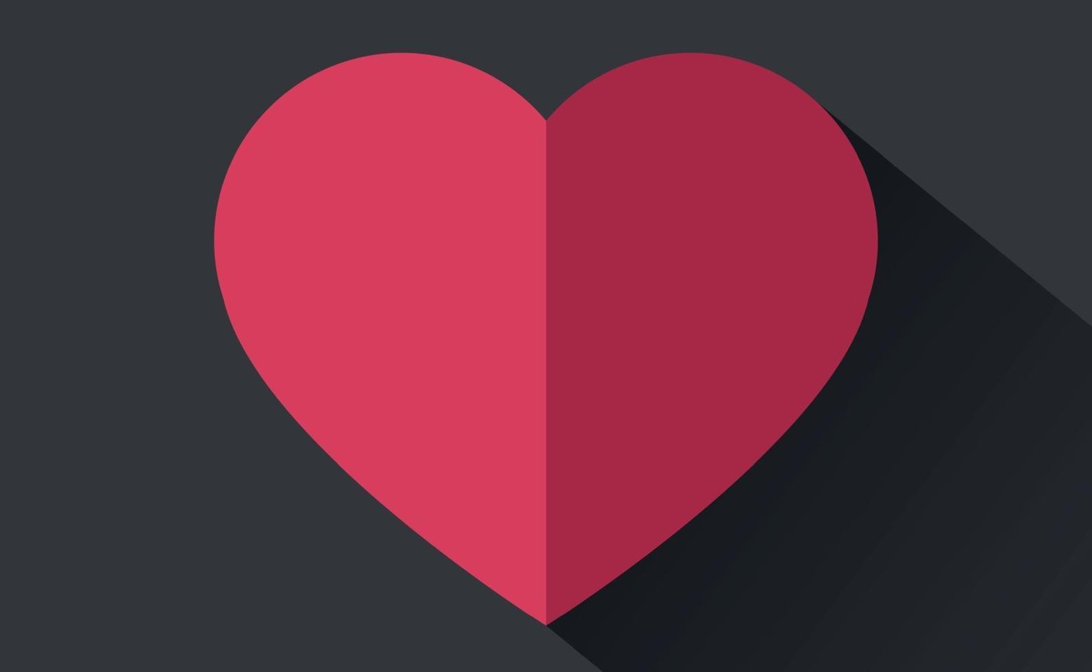 abstrakt festligt rött hjärta på svart och grå bakgrund - vektorillustration vektor