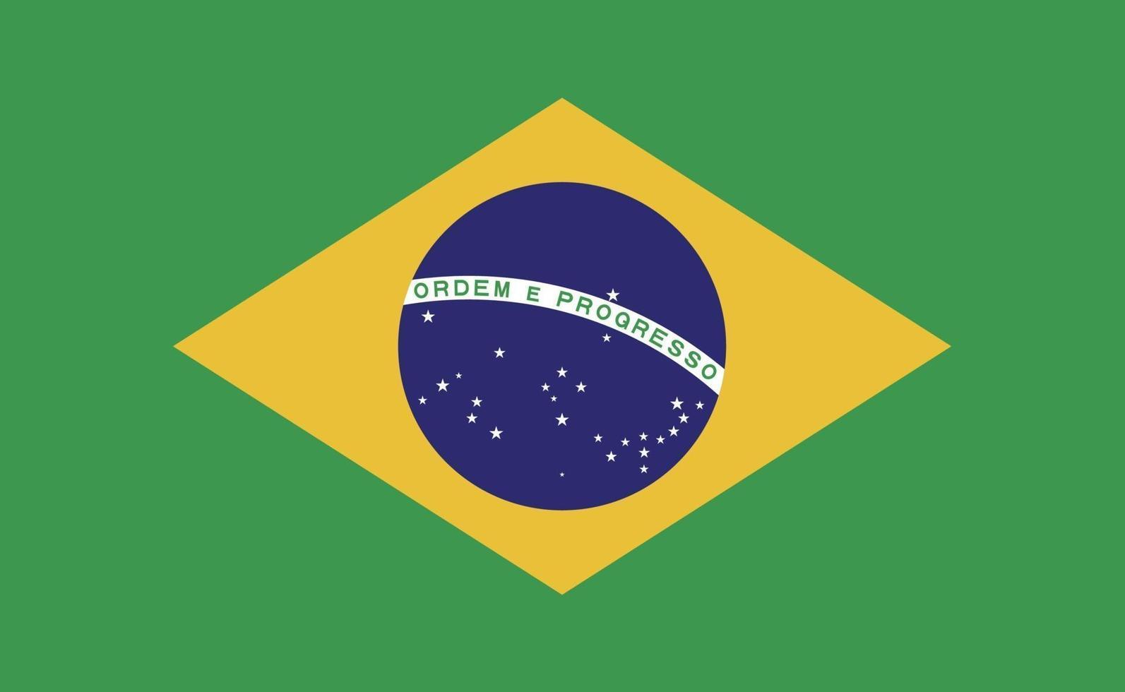 brasiliens nationella flagga i exakta proportioner - vektorillustration vektor
