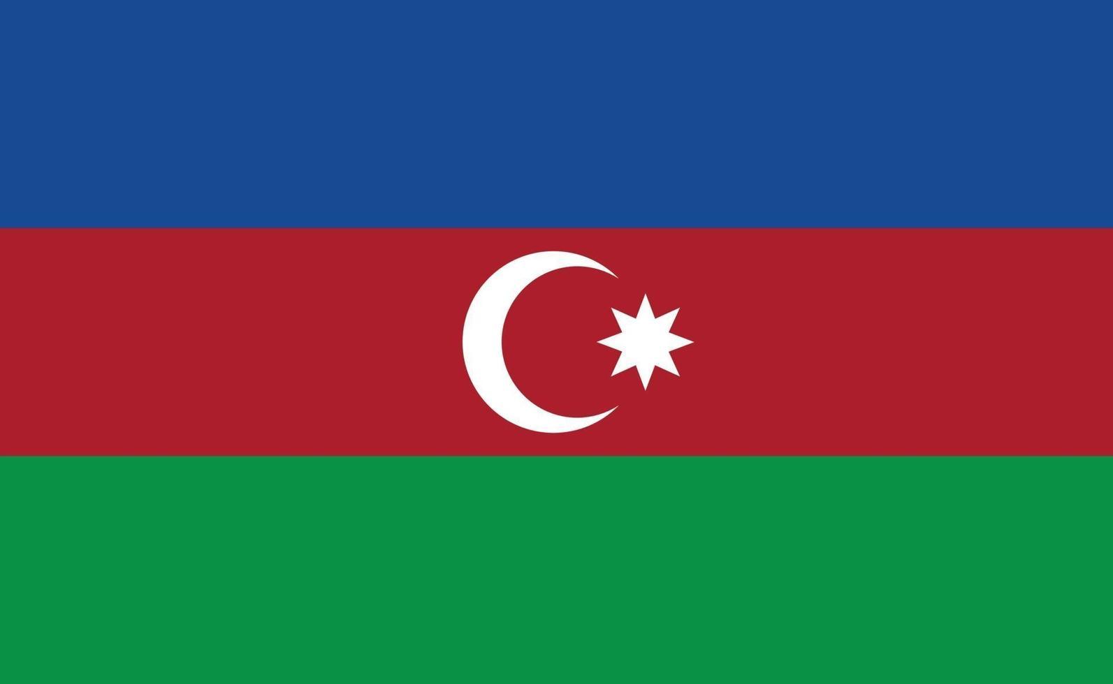 azerbajdzjans nationella flagga i exakta proportioner - vektorillustration vektor
