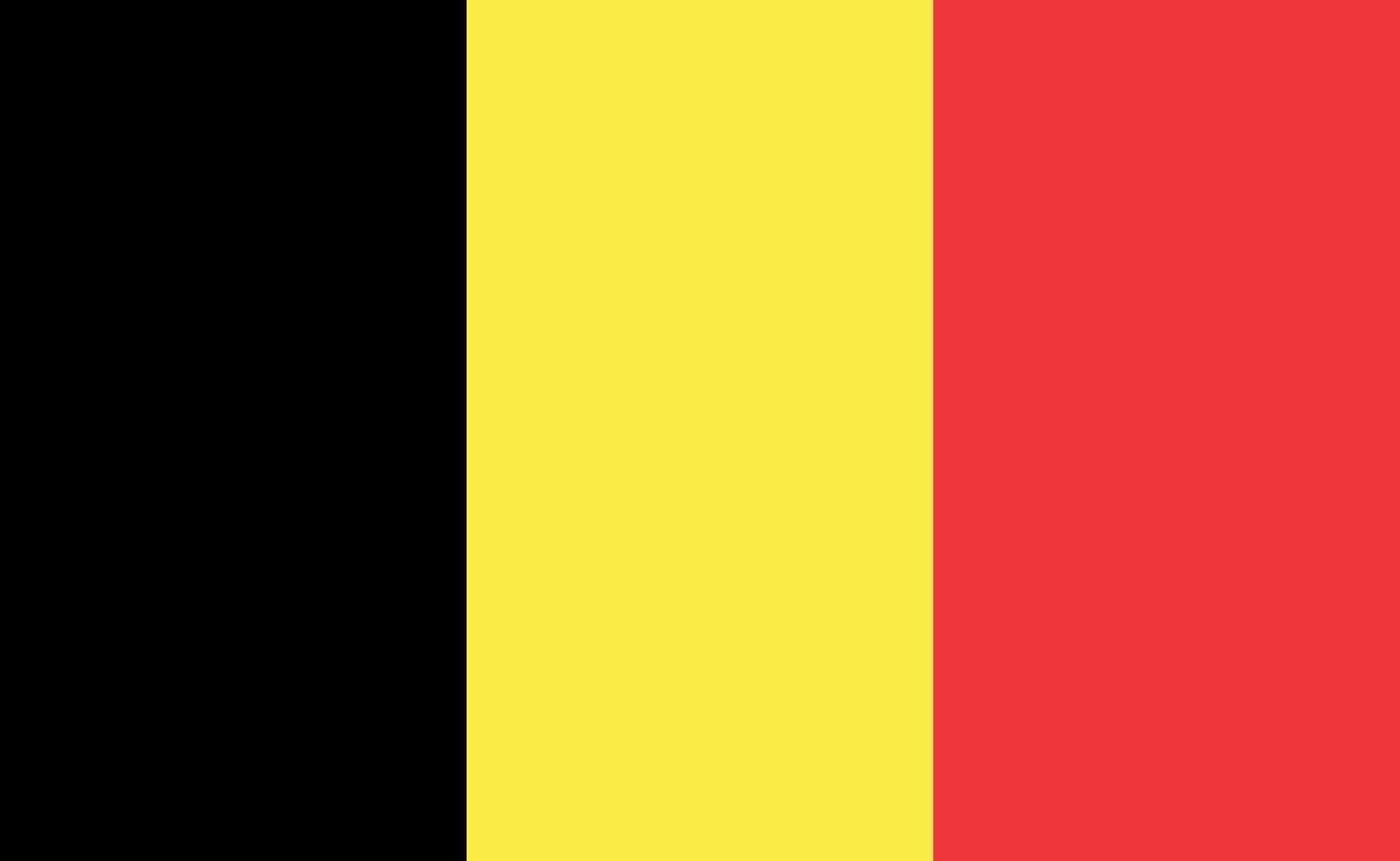 Belgiens nationella flagga i exakta proportioner - vektorillustration vektor