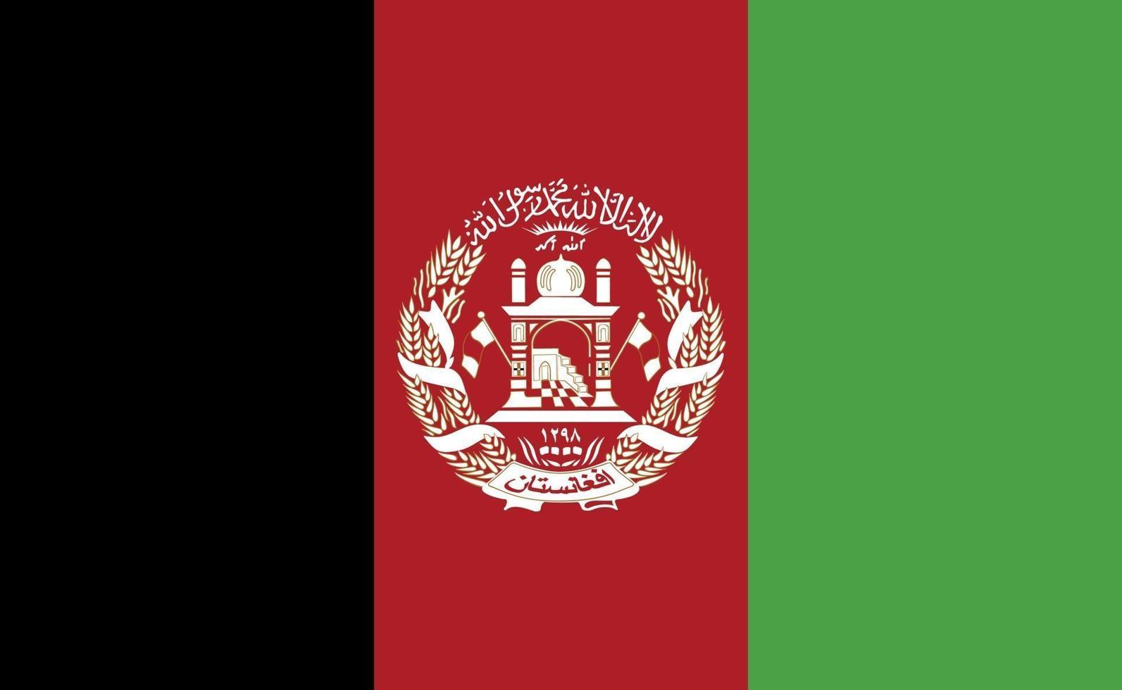 afghanistans nationella flagga i exakta proportioner - vektorillustration vektor