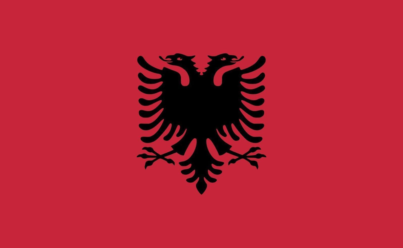 albaniens nationella flagga i exakta proportioner - vektorillustration vektor