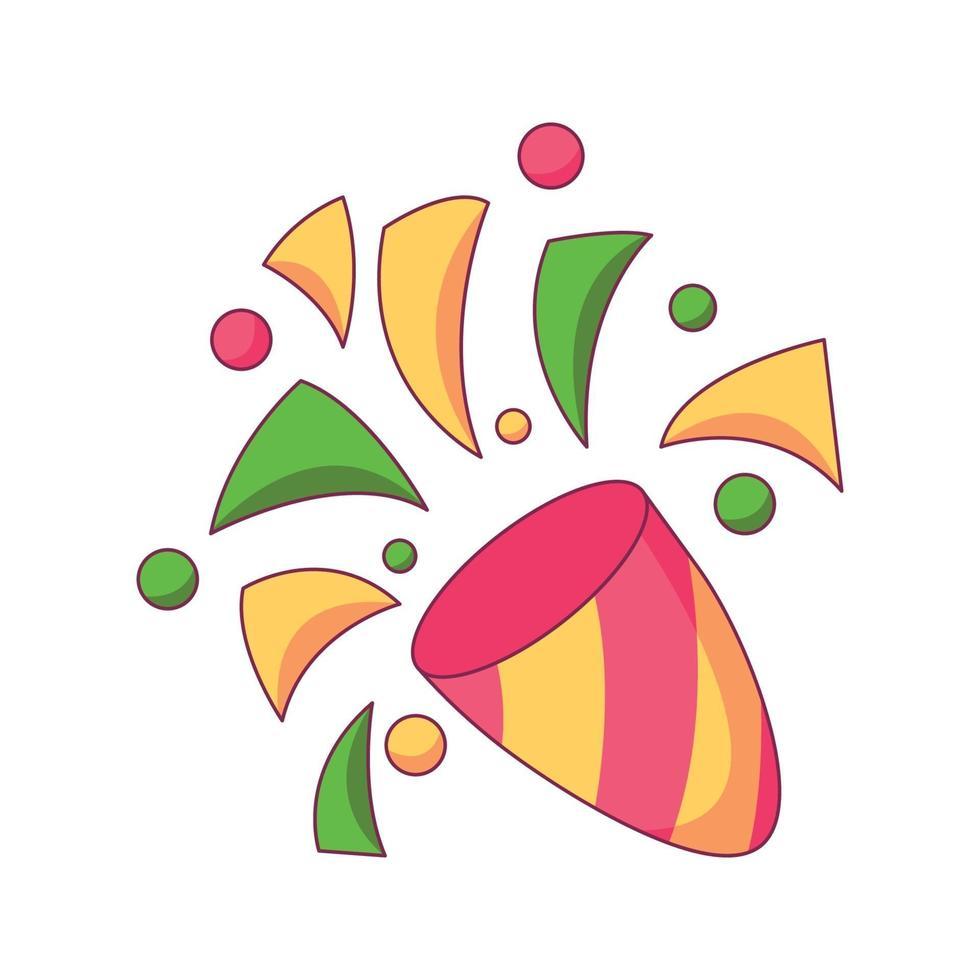 konfetti födelsedag tecknad klotter handritad koncept vektorillustration vektor