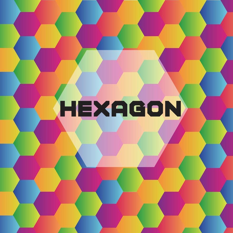 hexagon färgstark bakgrund vektor