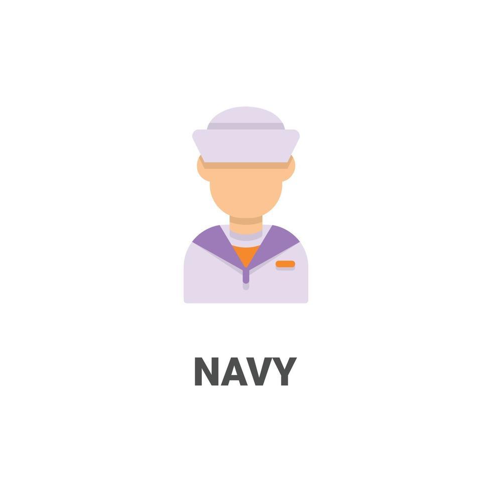 avatar marin vektor ikon från avatar samling. platt stilillustration, perfekt för din webbplats, applikation, utskriftsprojekt etc.