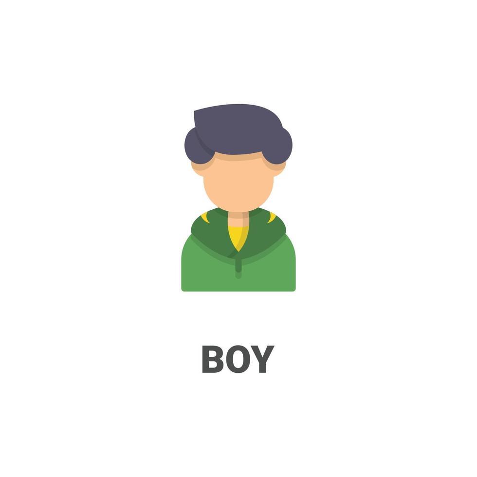 avatar pojke vektor ikon från avatar samling. platt stilillustration, perfekt för din webbplats, applikation, utskriftsprojekt etc.