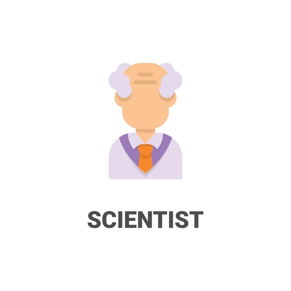 avatar vetenskapsman vektor ikon från avatar samling. platt stilillustration, perfekt för din webbplats, applikation, utskriftsprojekt etc.
