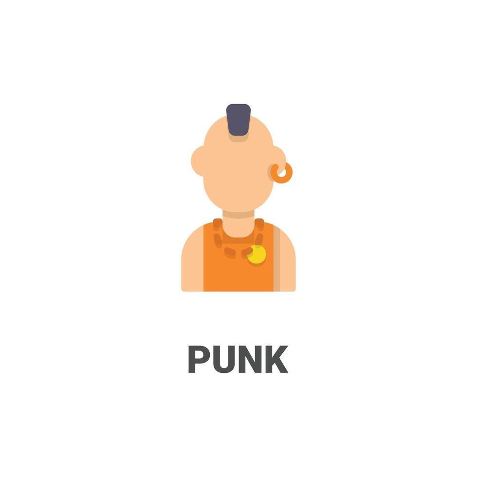 avatar punk vektor ikon från avatar samling. platt stilillustration, perfekt för din webbplats, applikation, utskriftsprojekt etc.