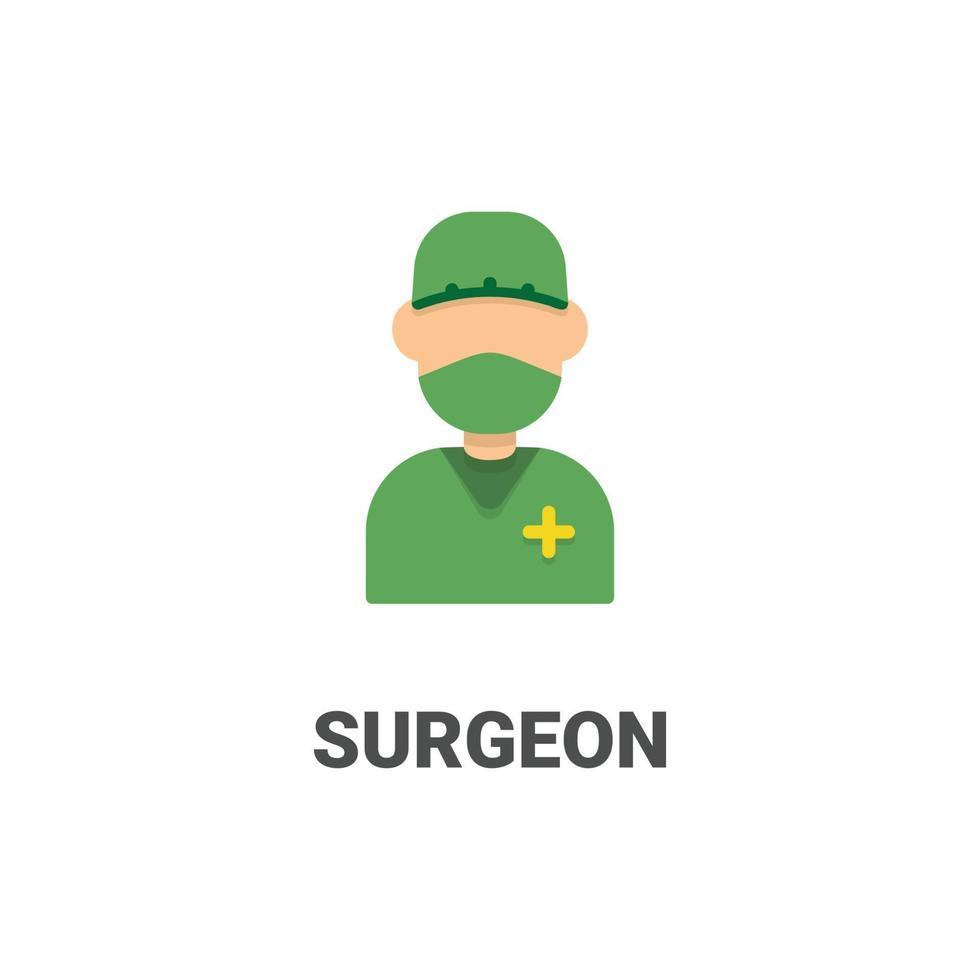 avatar kirurg vektor ikon från avatar samling. platt stilillustration, perfekt för din webbplats, applikation, utskriftsprojekt etc.