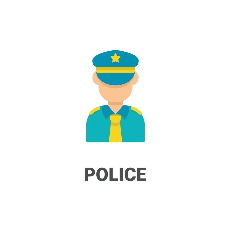 avatar polis vektor ikon från avatar samling. platt stilillustration, perfekt för din webbplats, applikation, utskriftsprojekt etc.