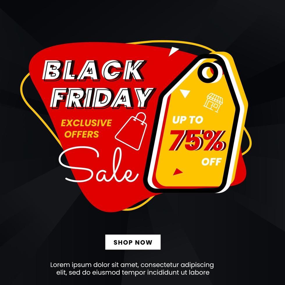 svart fredag banner design vektor