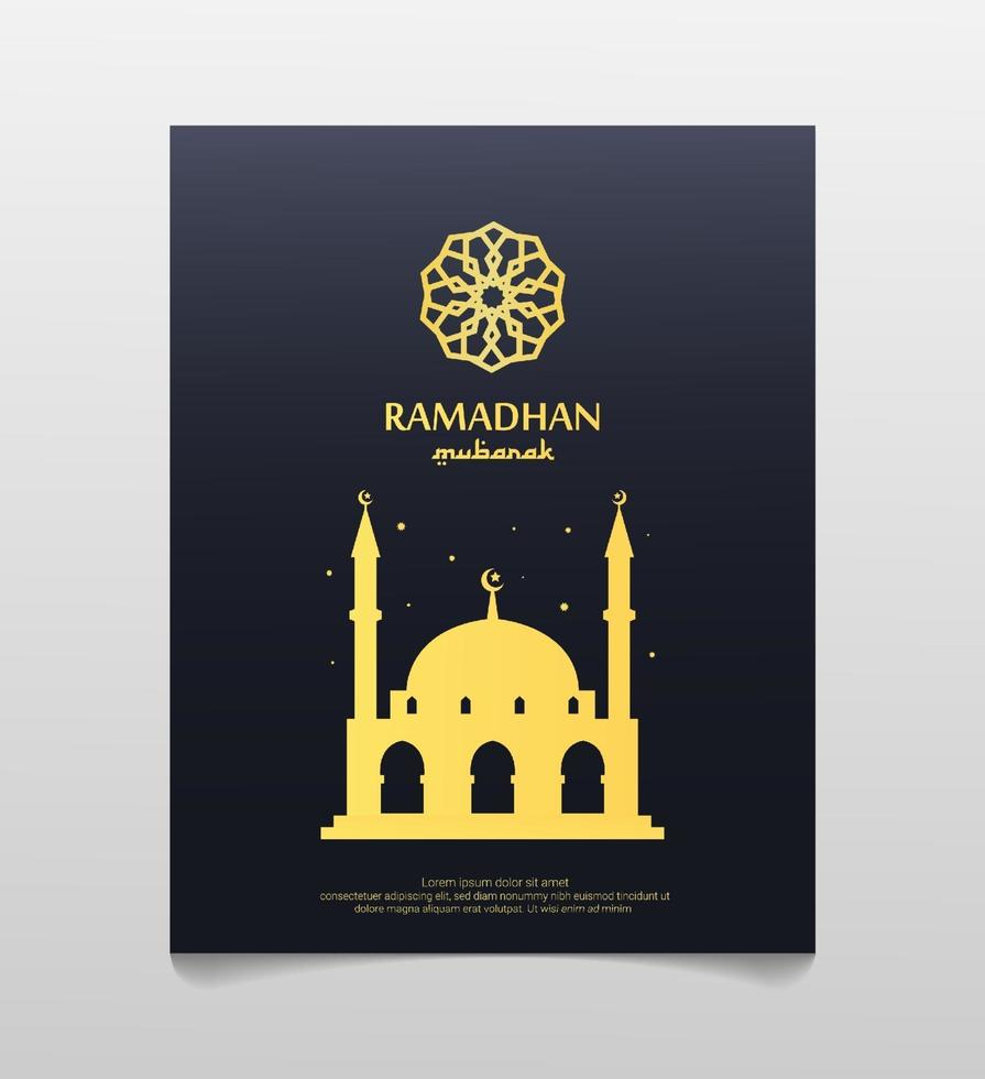 ramadan mubarak affisch. vektor illustration